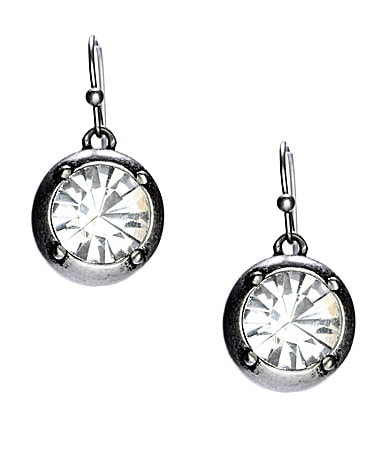 Jessica Simpson Split Decision Crystal Drop Earrings