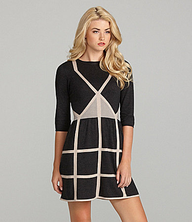 Cremieux Hannah Long-Sleeve Sweater Dress