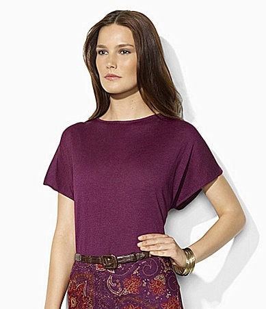 Lauren Ralph Lauren Tussah Silk Dolman-Sleeved Top