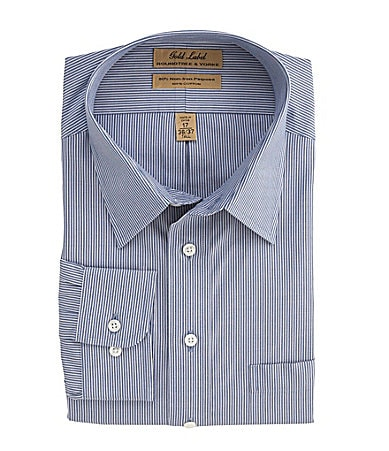 Roundtree & Yorke Big & Tall Striped Dress Shirt
