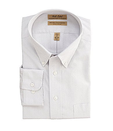 Roundtree & Yorke Big & Tall Checked Dress Shirt