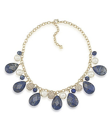 Carolee Rockstars Genuine Stone Statement Necklace