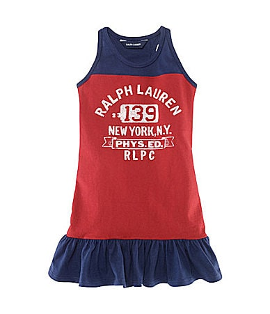 Ralph Lauren Childrenswear 2T-6X Colorblocked Tank Dress