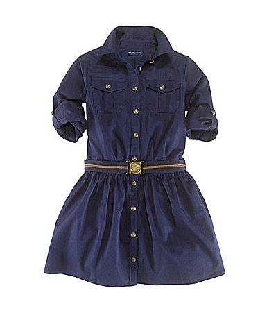 Ralph Lauren Childrenswear 7-16 Tissue Chino Shirtdress