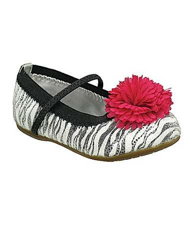 Stride Rite Infant Girls Buffy Zebra-Print Flats