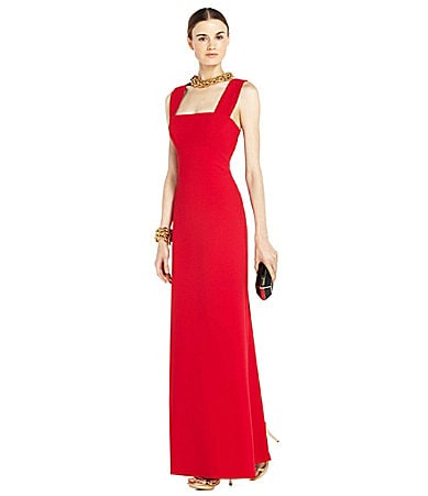 BCBGMAXAZRIA Agata Sleeveless Cutout-Back Gown
