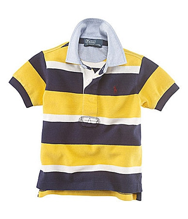Ralph Lauren Childrenswear 2T-7 Striped Rugby Collar Polo Shirt