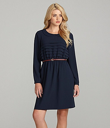 Cremieux Maiko Long-Sleeve Tiered Dress