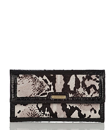 Brahmin Python Luxe Haircalf Collection Soft Checkbook Wallet