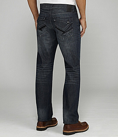 Marc Ecko Cut & Sew Straight-Cut Buckler Wash Jeans
