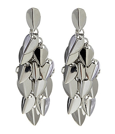 Vince Camuto Leaf Linear Earrings