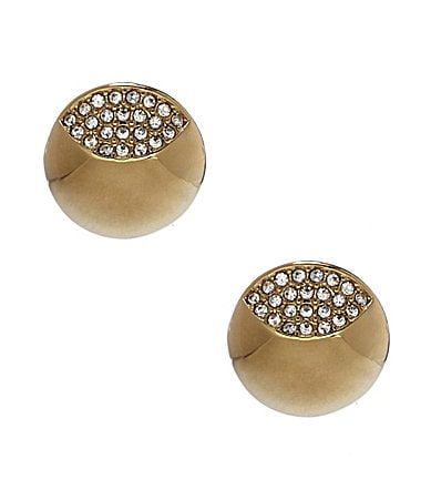 Vince Camuto Partial Pave Stud Earrings