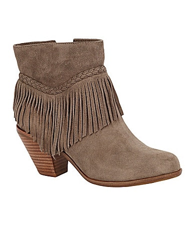 Gianni Bini Fay Fringe-Detail Booties