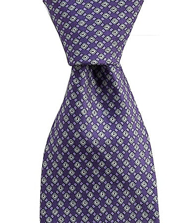 Cremieux Watch-Print Silk Tie