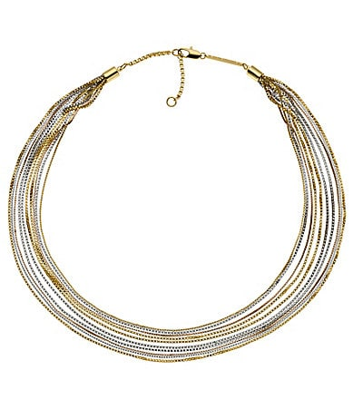 Michael Kors Multi-Tone Chain Necklace
