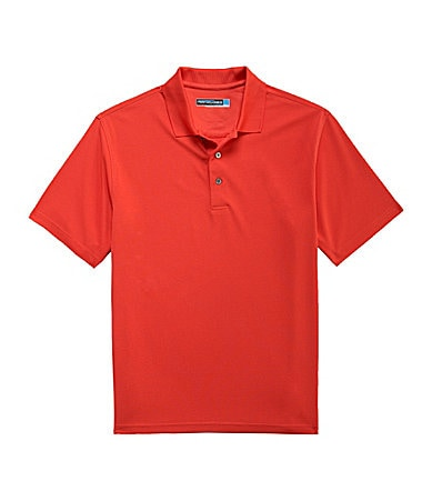 Roundtree & Yorke Performance Solid Textured Polo Shirt