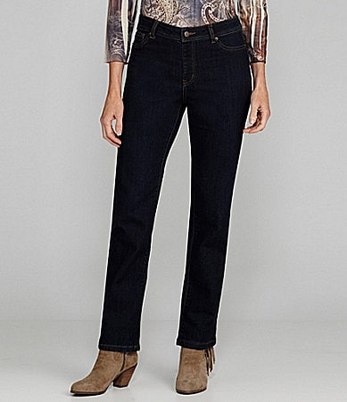 Reba Straight-Leg Stretch Jeans
