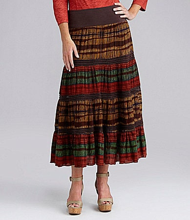 Reba Basket Weave Tiered Skirt
