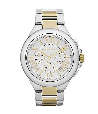 Michael Kors Camille Two Tone Chronograph Watch