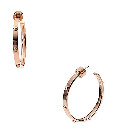 Michael Kors Screw Hoop Earrings