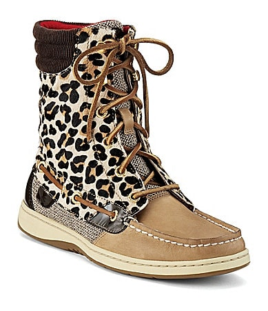Sperry Top-Sider Hiker Fish Leopard-Print Boots
