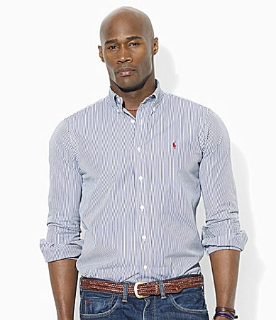 Polo Ralph Lauren Big & Tall Classic-Fit Striped Cotton Poplin Shirt