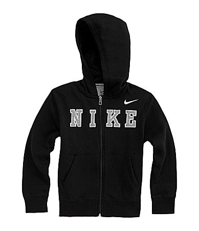 Nike 8-20 Brushed Fleece Full-Zip Hooded Sweatshirt