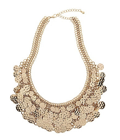 Natasha Jewels Of The Nile Hammered Paillettes Necklace