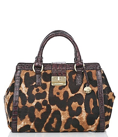 Brahmin Leopard Luxe Hair Calf Collection Annabelle Satchel