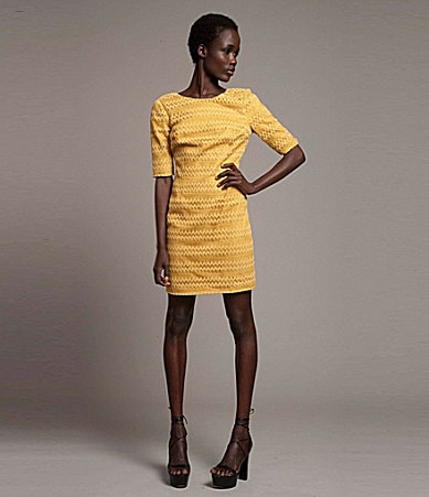 Plenty! by Tracy Reese Zigzag Lace Dress