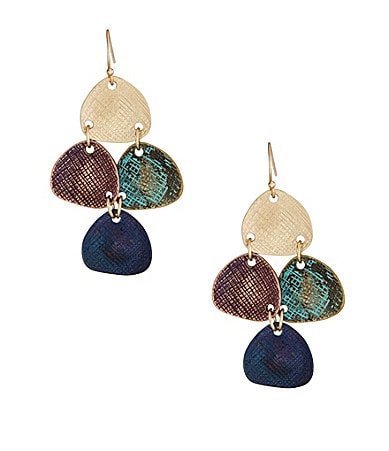 Dillard�s Tailored Textured Patina Chandelier Earrings