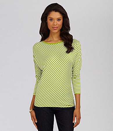MICHAEL Michael Kors Dolman-Sleeve Stripe Top