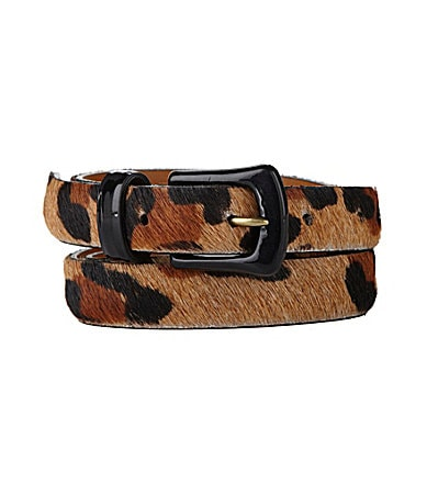Lauren Ralph Lauren Hair Calf Leopard Belt