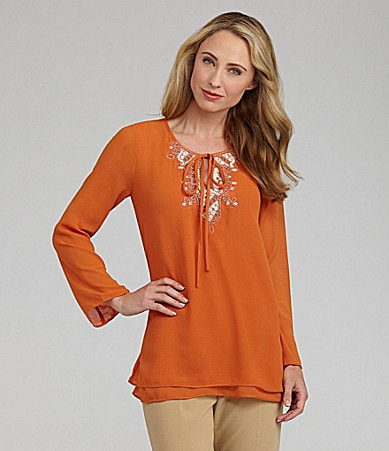 Nurture Beaded Chiffon Tunic