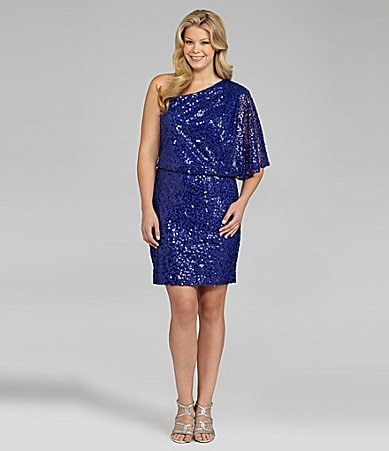 Jessica Simpson Woman One-Shoulder Sequin Dress