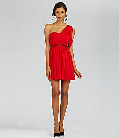 Jessica Simpson One-Shoulder Dress