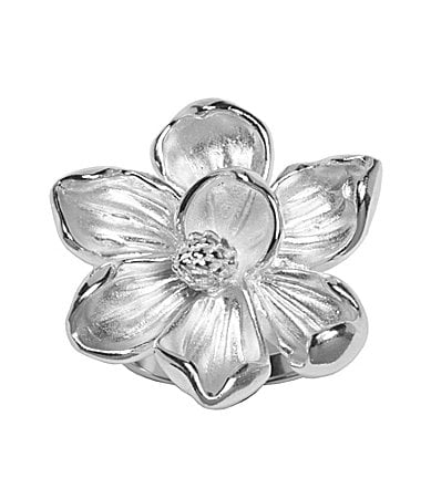 Arthur Court Carved Magnolia Statement Ring