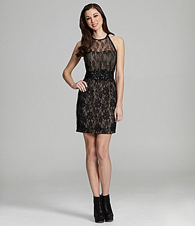 MM Couture by Miss Me Lace Open-Back Dress