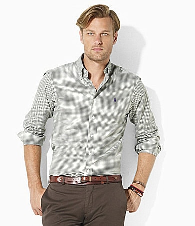 Polo Ralph Lauren Big & Tall Classic-Fit Gingham Cotton Poplin Shirt