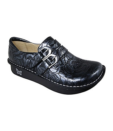 Alegria Alli Two-Buckle Slip-On Clogs