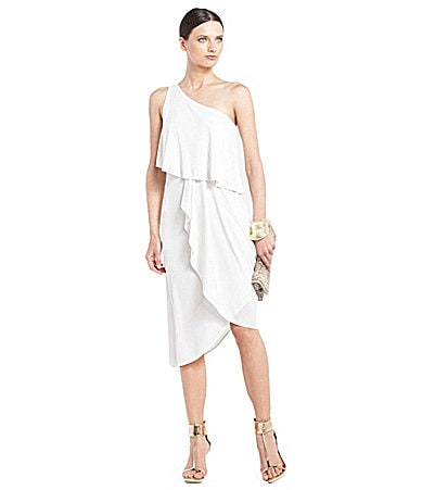 BCBGMAXAZRIA Katrina One-Shoulder Dress