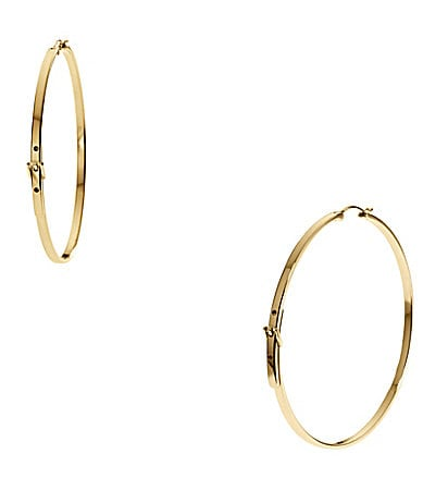 Michael Kors Large Buckle Hoop Earrings