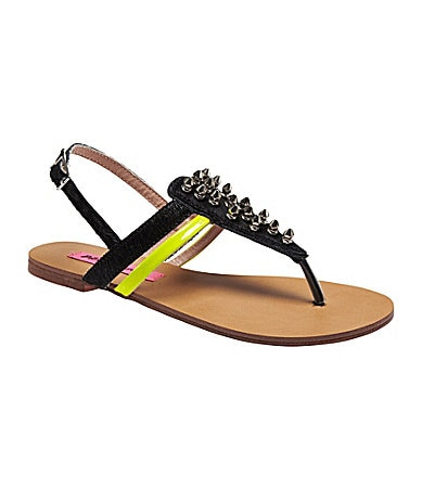 Betsey Johnson Corii Mixed-Media Sandals