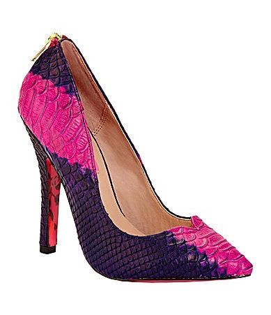 Betsey Johnson Taylor Snake-Print Pumps
