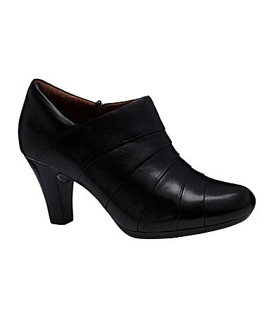 Clarks Society Gown Leather Booties