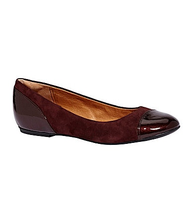 Clarks Valley Moon Cap-Toe Flats