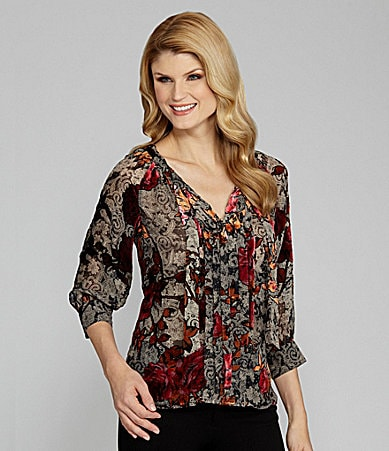 Antonio Melani Jaelyn Silk Tie-Neck Blouse