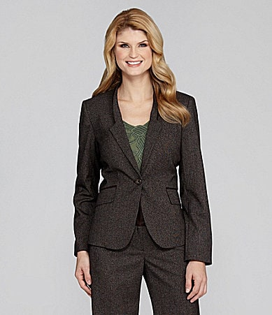 Antonio Melani Tori Plaid One-Button Blazer