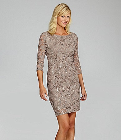 Marina Sequin-Lace Dress