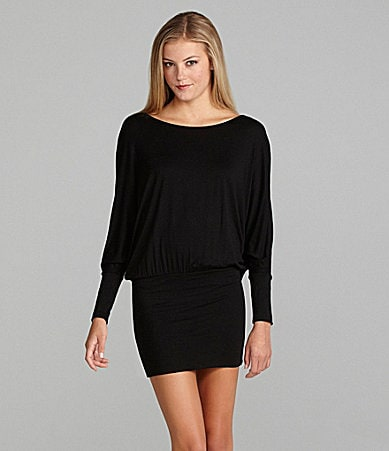 GB Long Sleeve Banded Hem Dress